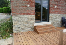 IsoCasa - Réalisation -  Terrasse extérieur (Ipe) bois exotique
