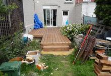 IsoCasa - Réalisation -  Terrasse en bois sapin autoclave Brun